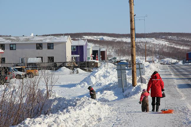 The Arctic town of Inuvik in Canada's Northwest Territories. (Eilís Quinn/Eye on the Arctic)