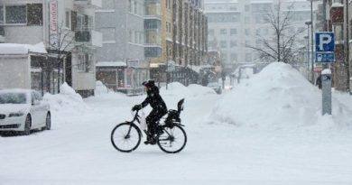 Snowy Rovaniemi on January 16  Image: YLE / Sauli Antikainen