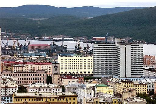 Downtown Murmansk. (AFP)