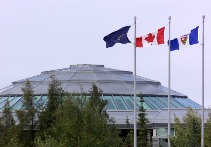 The Legislative Assembly in Canada's Northwest Territories. A devolution agreement giving the territory decision making powers concerning lands, water, and resources came into effect on April 1, 2014. (Chuck Stoody/The Canadian Press)