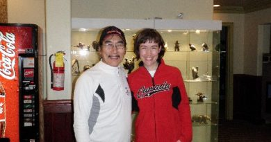 Natar Ungalaaq and me at Nova Hotel in Iqaluit.