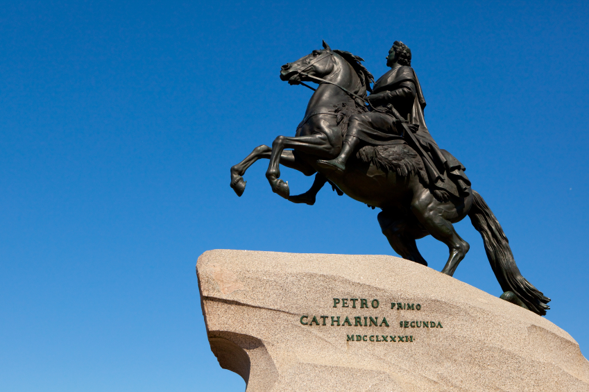The Bronze Horseman a monument to Peter the Great the founder of St Petersburg, Russia. (iStock)