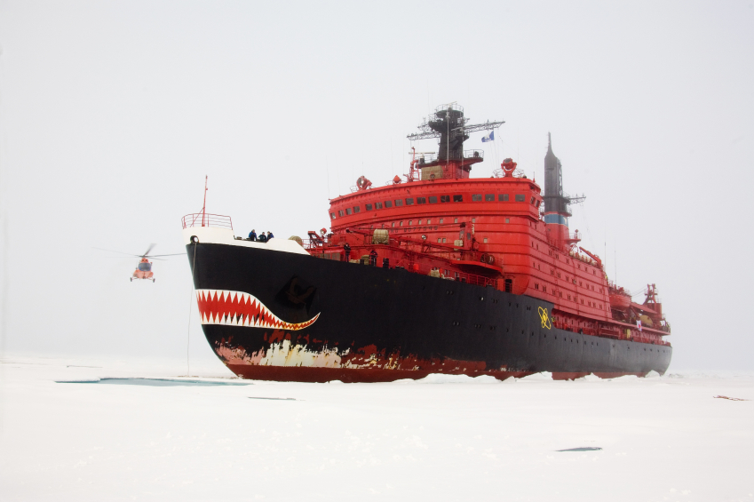 The Russian nuclear icebreaker Yamal stops close to the North Pole. Will the U.S. eventually become dependant on Russia for icebreaker support? (iStock)