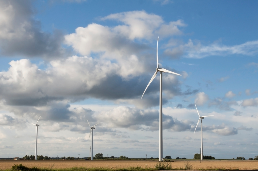 Wind turbines on a field in Sweden. (iStock)