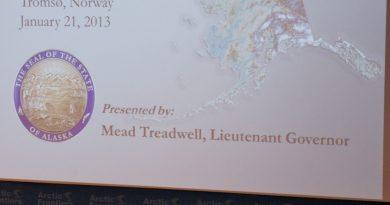Lt. Gov. Treadwell speaking. (c) Mia Bennett