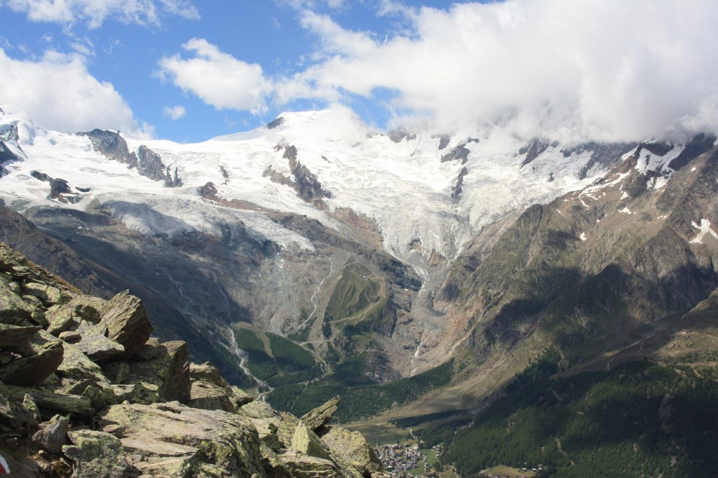 Alpine glacier like these in Saas-Fee, Switzerland, have declined dramatically in recent decades. (I.Quaile)