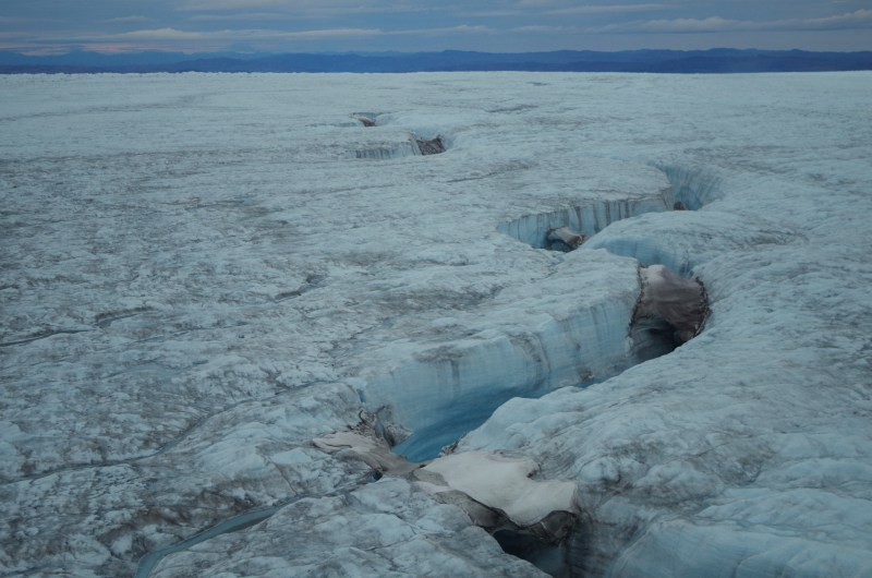 A canyon cutting its way through the Greenland Ice Sheet. (Mia Bennett / August 2014)