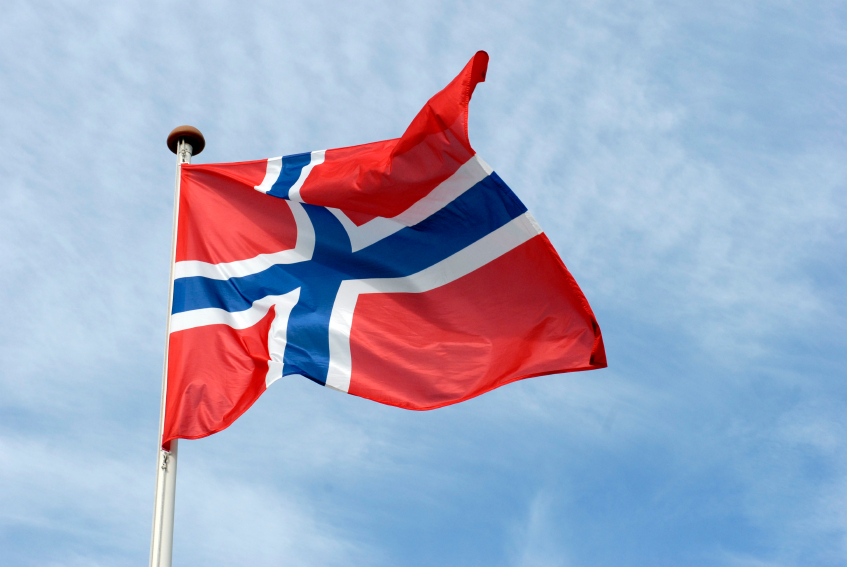 The Norwegian flag. (iStock)