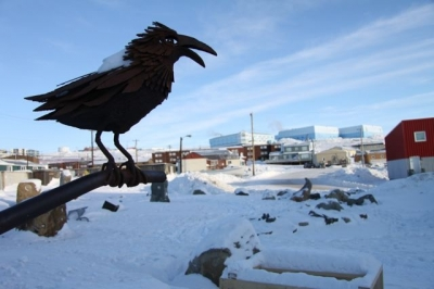 Iqaluit, the site of this week's National Inuit Youth Summit. (Levon Sevunts / Radio Canada International)