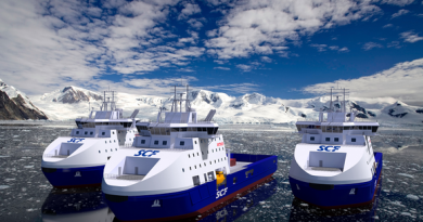 The Russian order for three icebreakers is worth 280 million euros for Helsinki shipyard Arctech. (Archtech Helsinki Shipyard)