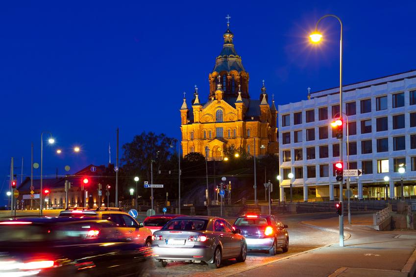 Traffic in downtown Helsinki. (iStock)