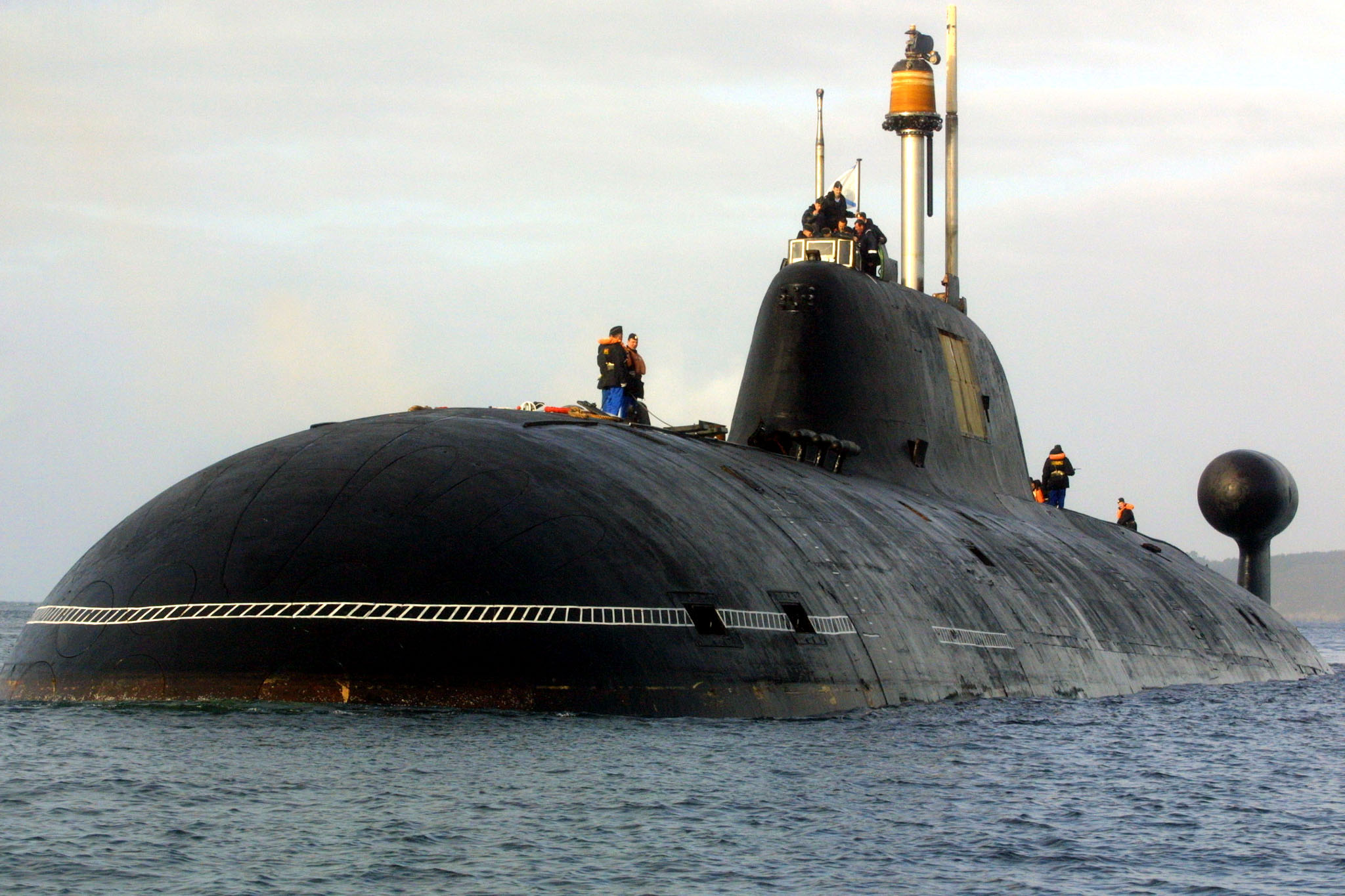 A Russian nuclear submarine pictured in 2004.( Fred Tanneau /AFP/Getty Images)