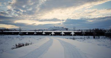 The iron mine of Swedish state-owned mining company LKAB (Luossavaara-Kiirunavaara Aktiebolag) in Kiruna, Lapland. (Jonathan Nackstrand /AFP/Getty Images)