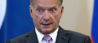 Finnish President Sauli Niinistö at a press conference in Russia in August 2014. (Ivan Sekretarev /AFP/Getty Images)