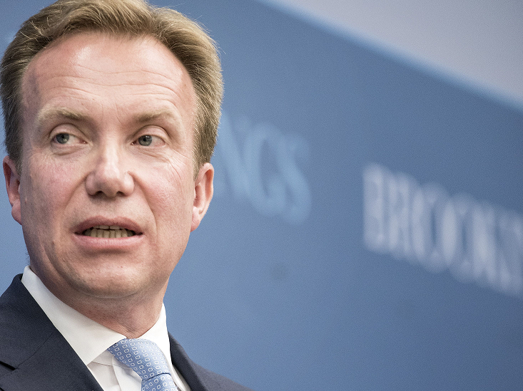 Norway's Minister of foreign affairs Børge Brende speaks at the Brookings Institution June 16, 2014 in Washington, DC. (Brendan Smialowski / FP/Getty Images)
