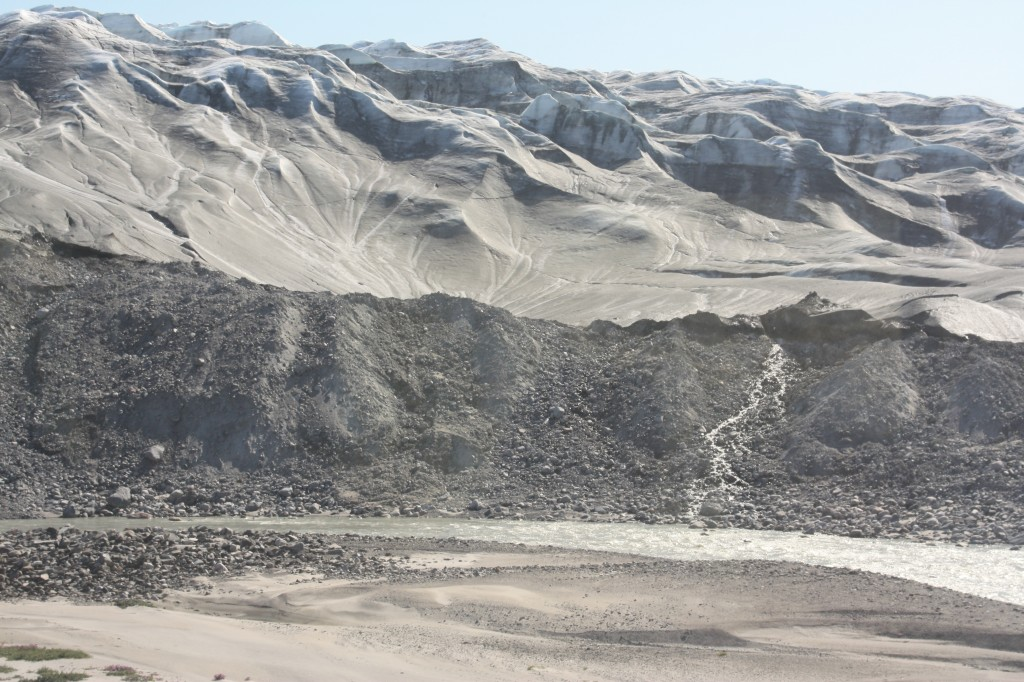 The Greenland ice sheet is melting faster. Scientists also report a decreasing albedo with snow becoming darker. (Irene Quaile)