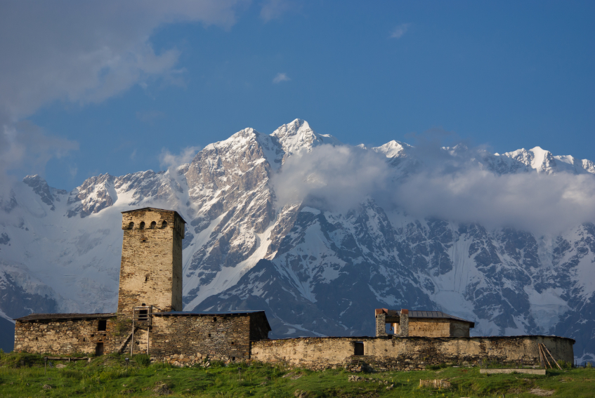 Ushguli, Georgia, in the North Caucasus.  (iStock)