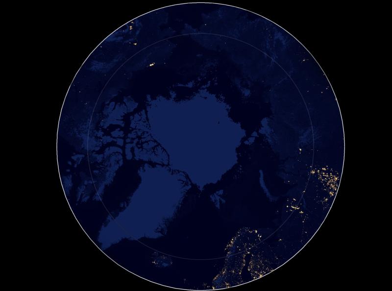 Blog Nasa Satellite Imagery Reveals The Arctic At Night