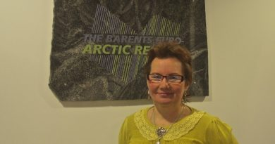 Valentina Sovkina in Kirkenes on the 70th anniversary of liberation in Finnmark. (Emma Jarratt/Barents Observer)