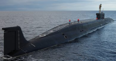 "The strategic submarine ""Vladimir Monomakh"" has passed trials and is preparing for commissioning with the Navy. (Sevmash news release)"