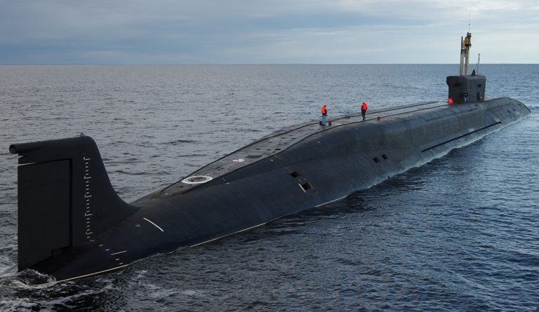 """The strategic submarine """"Vladimir Monomakh"""" has passed trials and is preparing for commissioning with the Navy. (Sevmash news release)"""