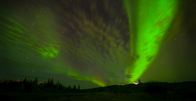 The Northern Lights near the city of Yellowknife in Canada's Northwest Territories. (iStock)
