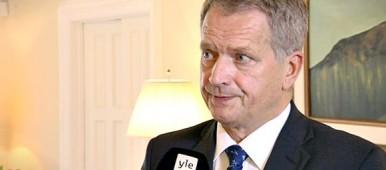 Finland`s President Sauli Niinistö. (Yle)