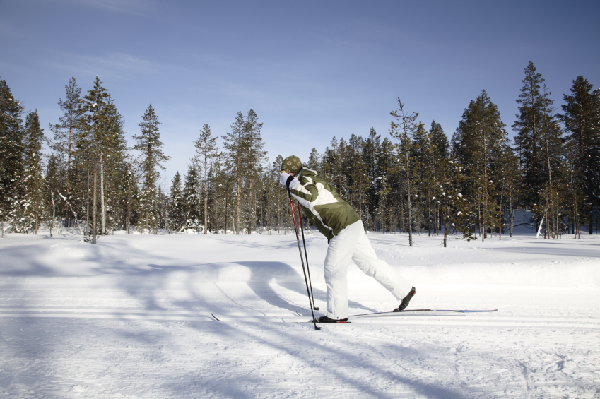 A cross-country skier in Levi, Finland. (iStock)