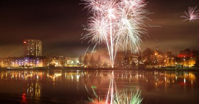Fireworks over Umea, the capital of Sweden's Västerbotten country. (iStock)