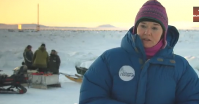 Canadian senator Celine Herviex-Payette in Iqaluit, Nunavut in 2010. (Radio Canada International)