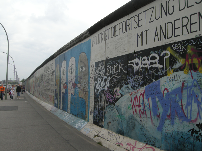 A part of the Berlin Wall at the East Side Gallery in Berlin, Germany. (Mia Bennett)