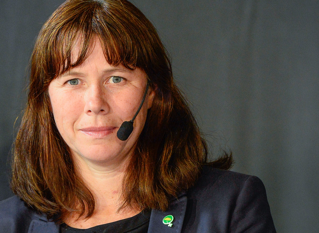Åsa Romson, Sweden's environment minister, pictured above in September 2014. (Jonathan Nackstrand/AFP/Getty)