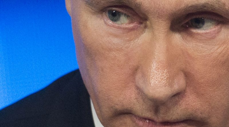 Russian President Vladimir Putin at a news conference in Moscow on December 18, 2014.(Pavel Golovkin/AP)