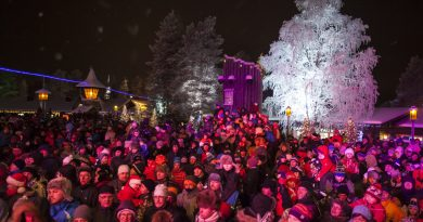 Children and adults watch Santa Claus getting ready to start the long journey to children all over the world, one day before Christmas Eve at the Arctic Circle in Rovaniemi, Finland in 2012. (Kaisa Siren/AFP/Getty Images)