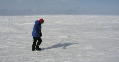 Sea ice can be very thick…even in a warming world (Irene Quaile)