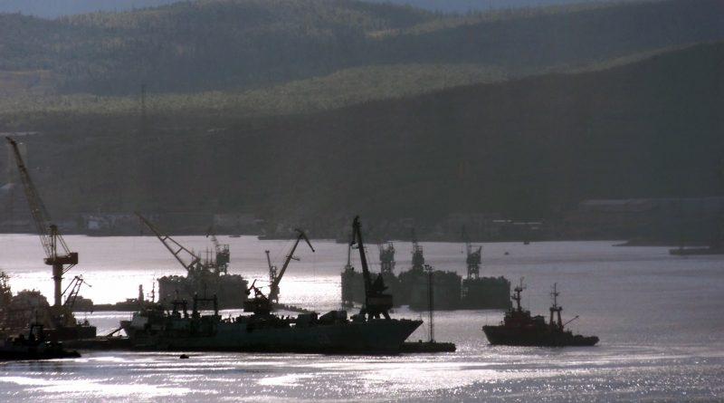 A Russian fishing boat enters northern port of Murmansk in Kol'skiy (Kola) peninsula on the Barents Sea. (Alexander Nemenov/AFP/Getty Images)