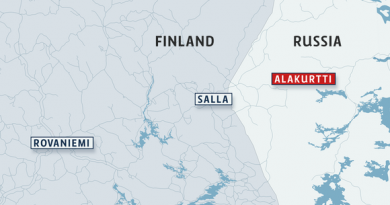 Map of northern Finland indicating Rovaniemi, the Finnish border city of Salla and the Russian city of Alakurtti.(Yle/Uutisgrafiikka)