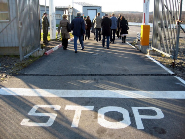 Entry to Russia at the Borisoglebsk border checkpoint. (Thomas Nilsen/Barents Observer)