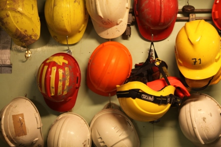If you want to get ahead… get a (hard) hat! No going on deck without one. (Irene Quaile)