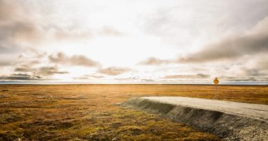 A subdivision on the outskirts of Kaktovik looks into the Arctic National Wildlife Refuge's 1002 coastal plain. Sept. 10, 2012. (Loren Holmes/Alaska Dispatch)