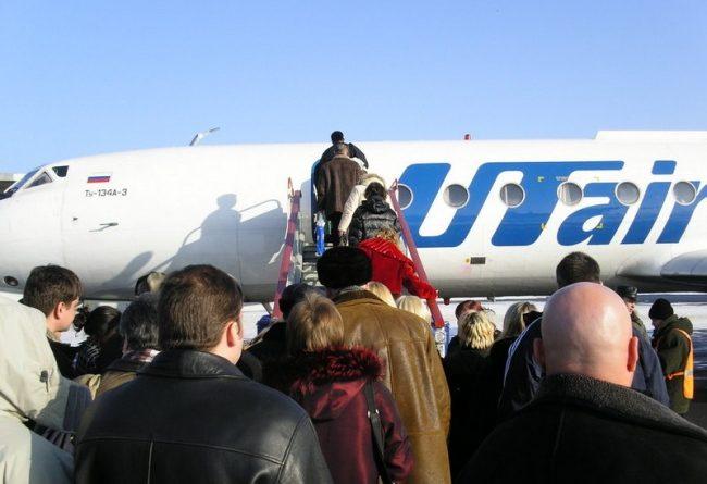 UTair at the airport in Naryan-Mar. (Thomas Nilsen/Barents Observer)