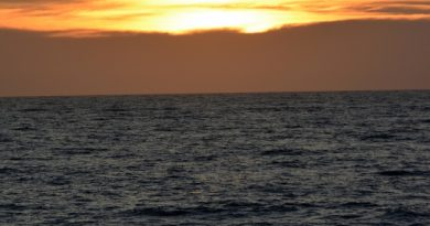 Sunset over the Barents Sea. (Thomas Nilsen/Barents Observer)