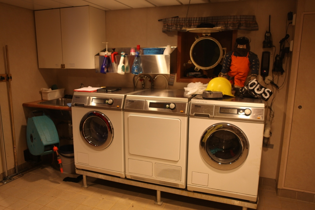 The washing machines on the Helmer Hanssen were doing overtime. (Irene Quaile)