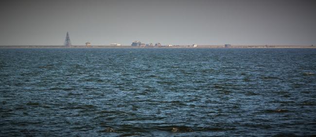 Kara Sea with Beloye Ostrov north of the Yamal Peninsula. (Thomas Nilsen/Barents Observer)