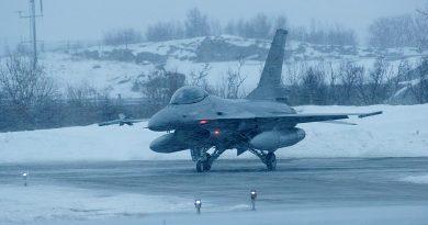 A Norwegian F-16 at the Bodø airbase. (Kim H. Bjorheim/Norwegian Armed Forces)