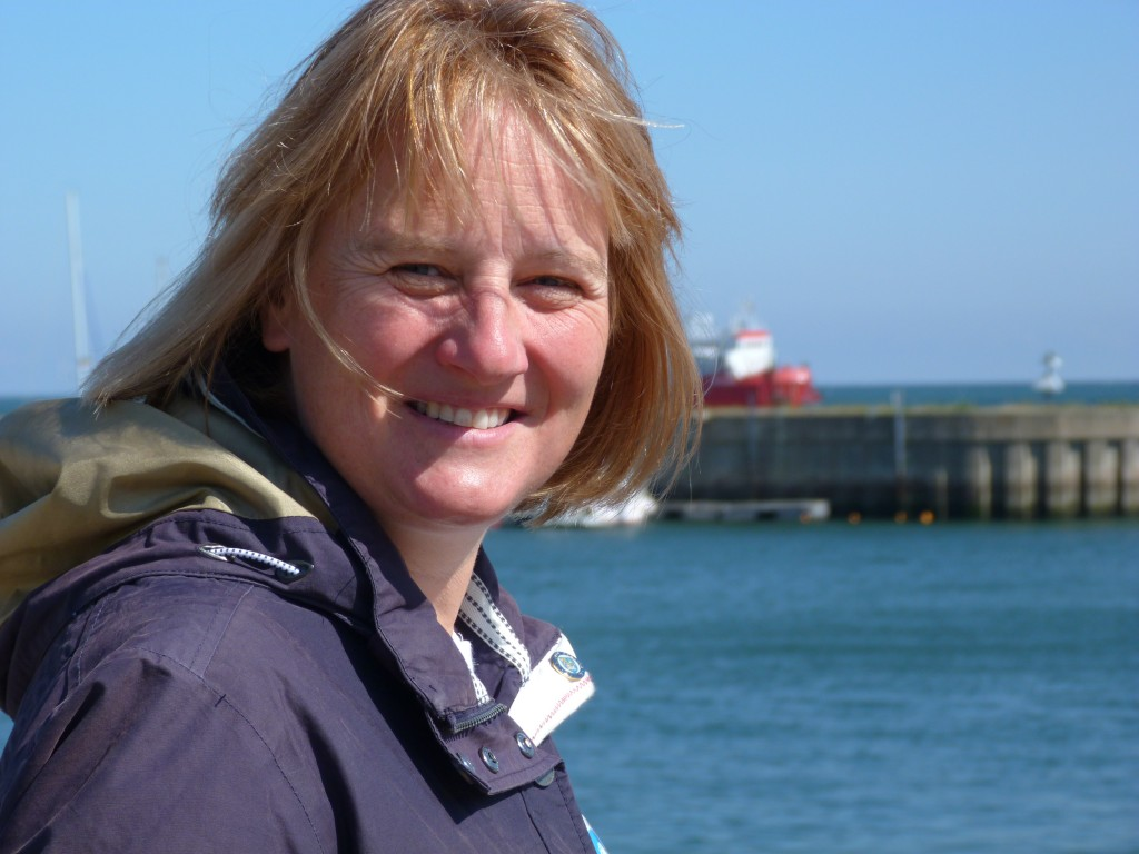 Karen Wiltshire on Helgoland (Irene Quaile/Deutsche Welle)