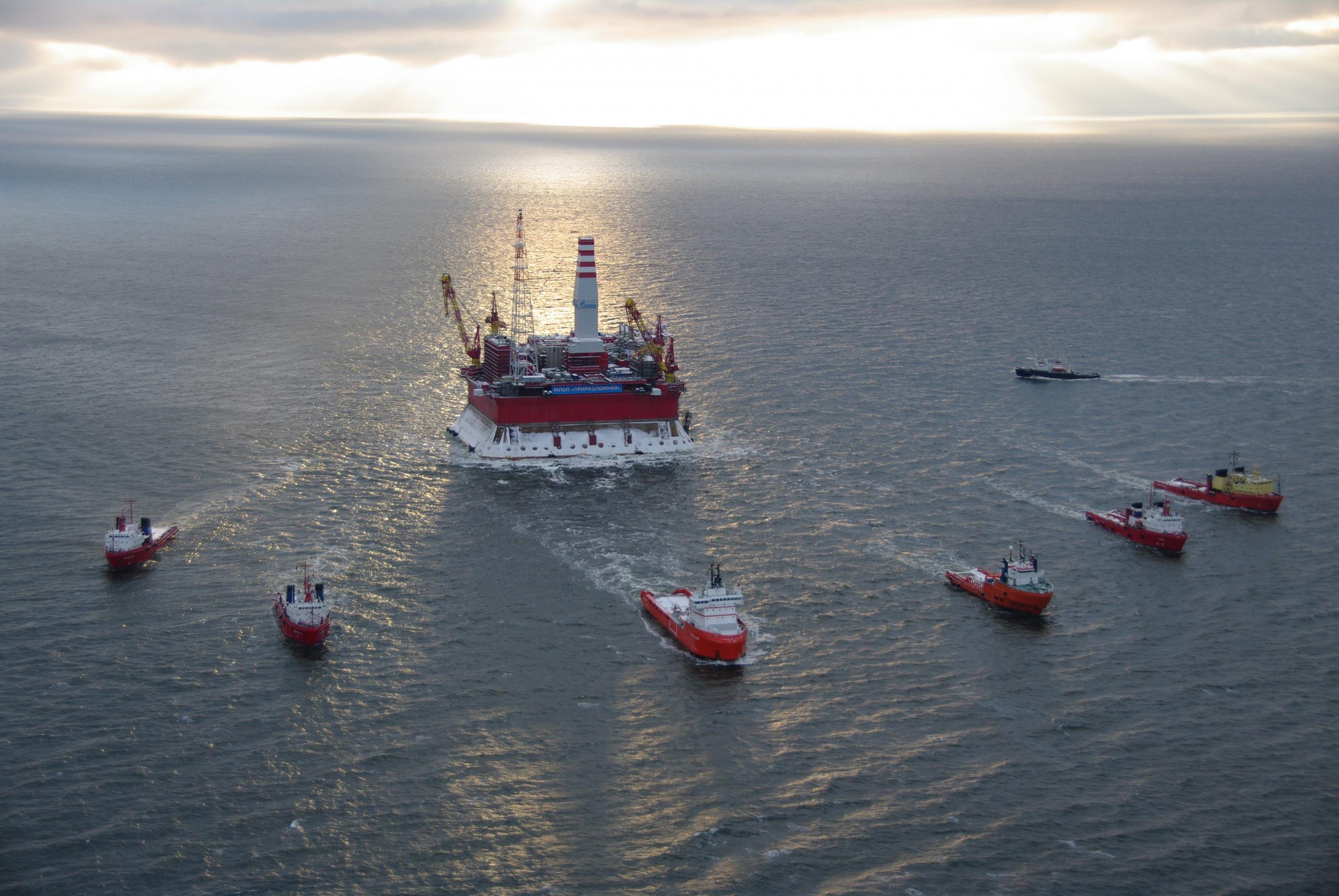 Prirazlomnaya platform. (Courtesy Gazprom)