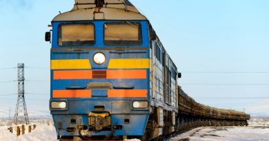 A freight train in Norilsk, Russia. (iStock)