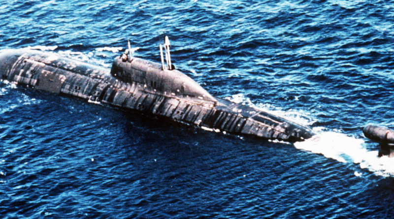 This undated file photo shows a Russian nuclear submarine. (STR/AFP/Getty Images)