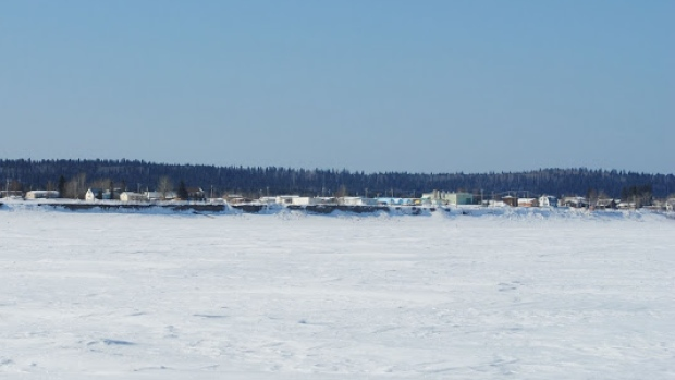 Fort Simpson sits on the banks of the Mackenzie near its confluence with the Liard River. (CBC)